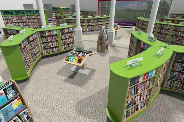 Public library 3d visualization