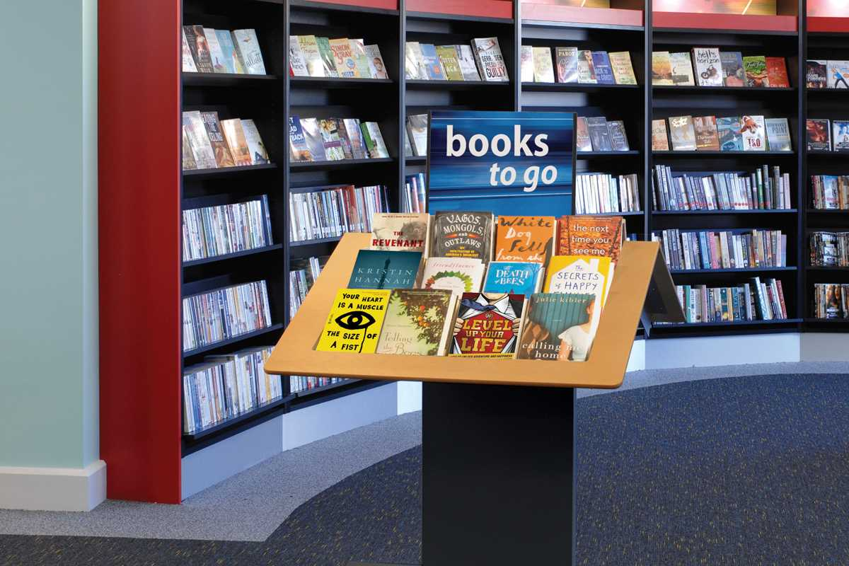 Library book display table