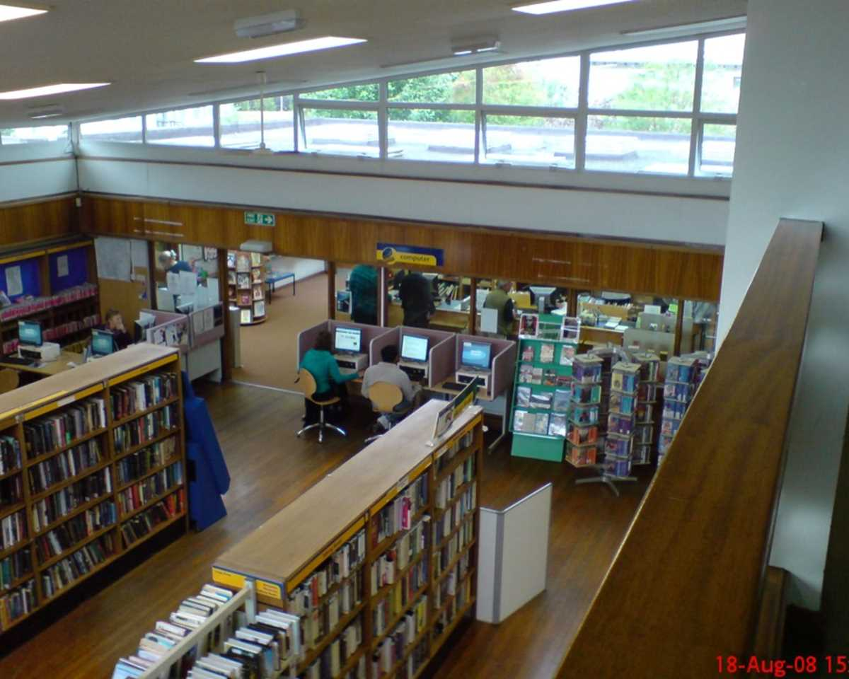 Here's a typical library layout.